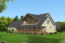 Dream House Plan - Country Exterior - Rear Elevation Plan #932-146