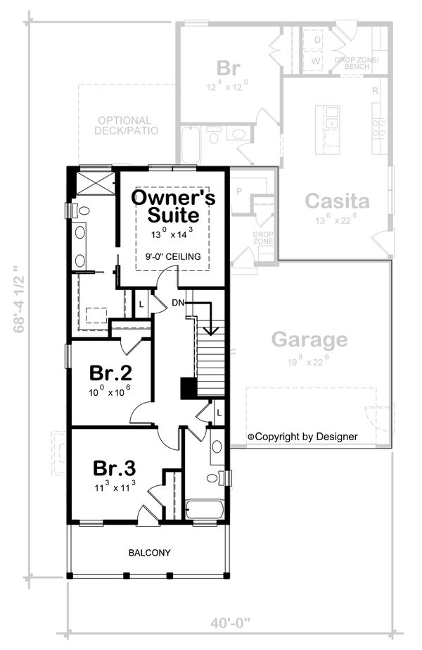 House Blueprint - Beach Floor Plan - Upper Floor Plan #20-2426