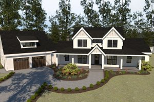 Home Plan - Farmhouse Exterior - Front Elevation Plan #1070-23