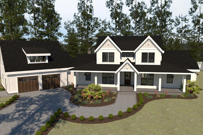 Farmhouse Style House Plan - 5 Beds 3.5 Baths 3190 Sq/Ft Plan #1070-23 Exterior - Front Elevation