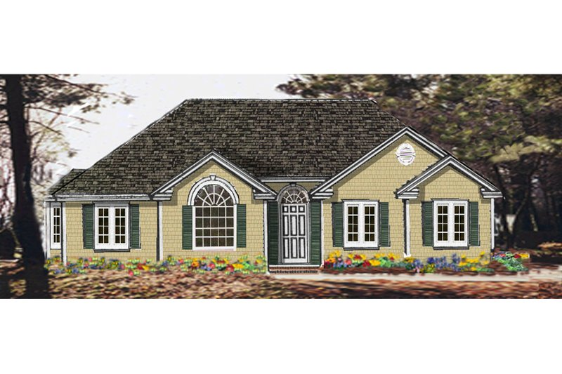 Architectural House Design - Ranch Exterior - Front Elevation Plan #3-113