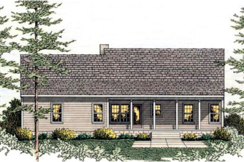 Colonial Exterior - Rear Elevation Plan #406-132 - Houseplans.com