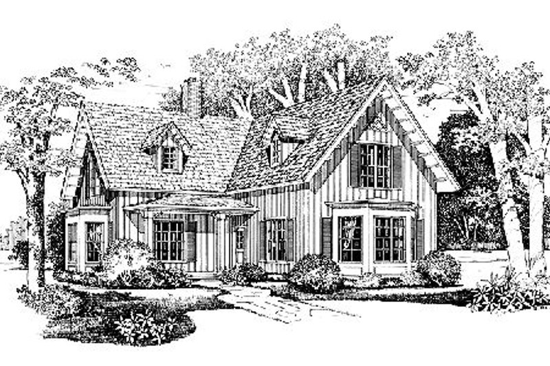 House Blueprint - Farmhouse Exterior - Front Elevation Plan #72-328