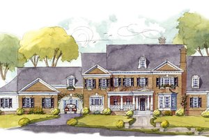 Colonial Exterior - Front Elevation Plan #429-48