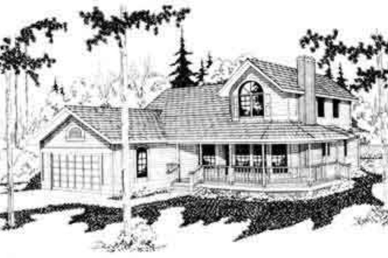 Traditional Exterior - Front Elevation Plan #124-104 - Houseplans.com