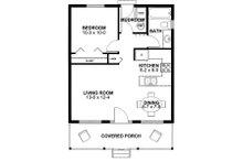 Cabin Floor Plan - Main Floor Plan Plan #126-149