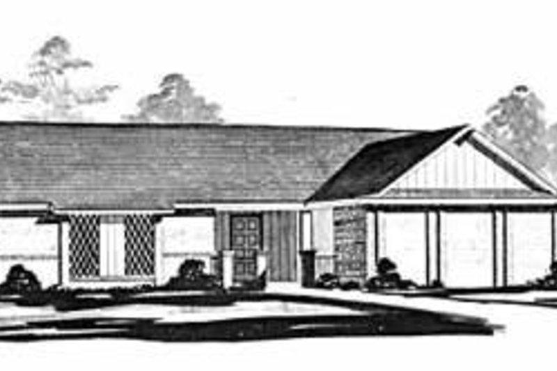 Ranch Exterior - Front Elevation Plan #36-362 - Houseplans.com