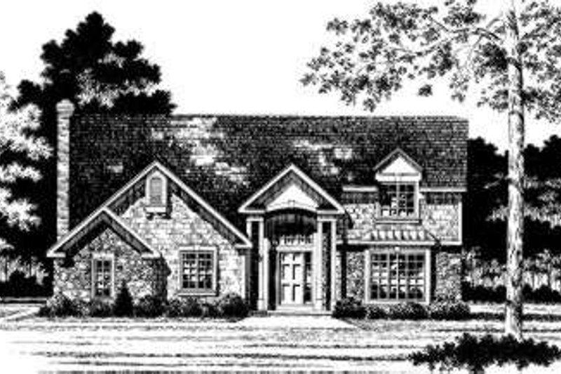 European Style House Plan - 4 Beds 2.5 Baths 2251 Sq/Ft Plan #328-133