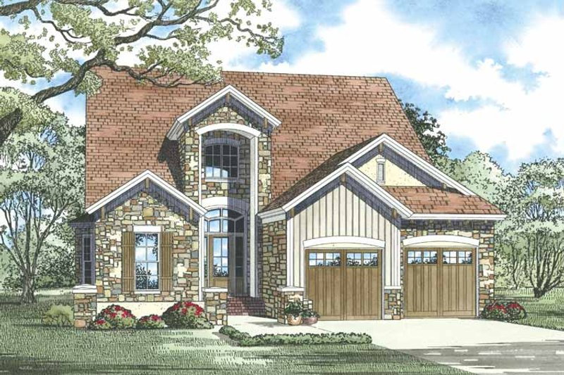 Traditional Exterior - Front Elevation Plan #17-3268 - Houseplans.com