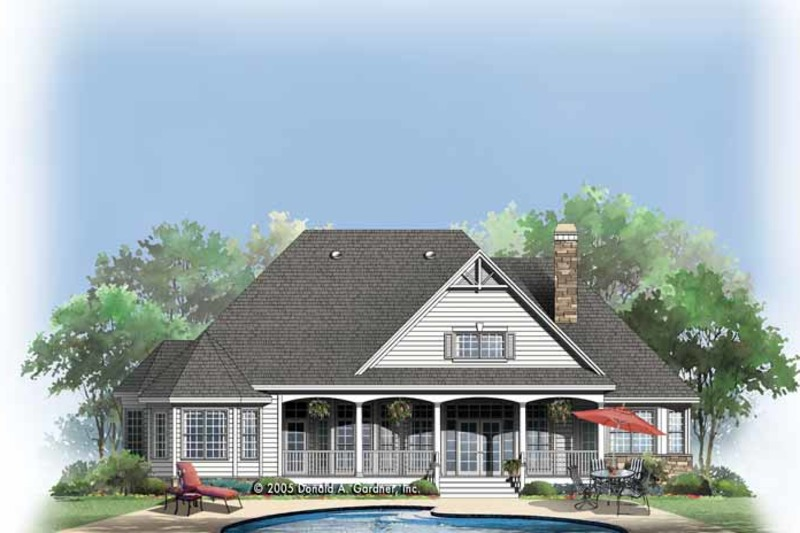 Country Exterior - Rear Elevation Plan #929-756 - Houseplans.com