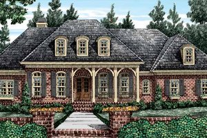 Country Exterior - Front Elevation Plan #927-409