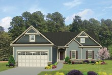 Ranch Exterior - Front Elevation Plan #1010-138