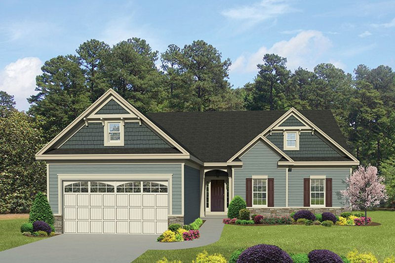 Architectural House Design - Ranch Exterior - Front Elevation Plan #1010-138