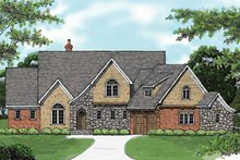 House Design - Tudor Exterior - Front Elevation Plan #413-900