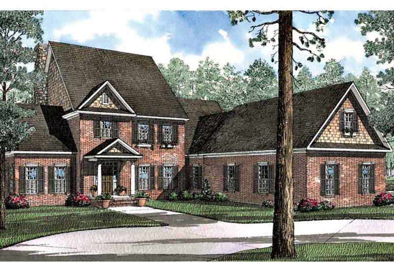 Colonial Exterior - Front Elevation Plan #17-3065 - Houseplans.com