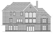 European Style House Plan - 4 Beds 3.5 Baths 4678 Sq/Ft Plan #1057-2 Exterior - Rear Elevation