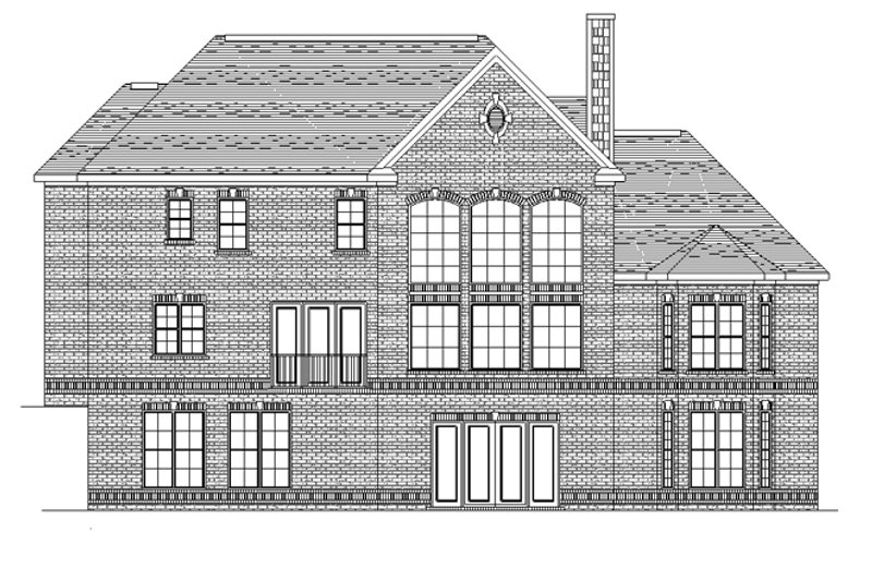 European Exterior - Rear Elevation Plan #1057-2 - Houseplans.com