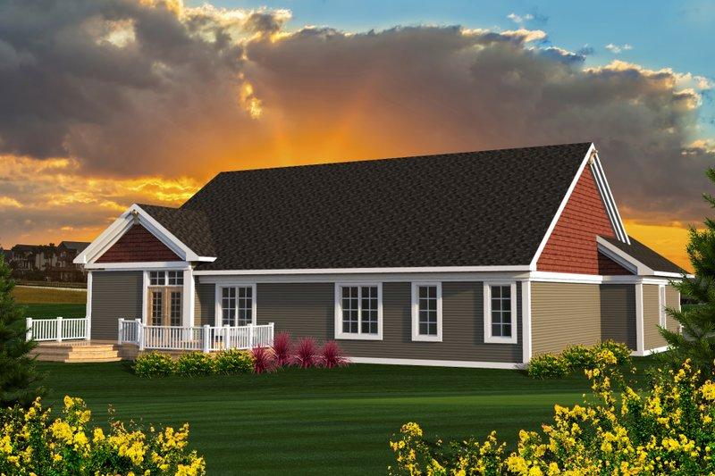 Ranch Exterior - Rear Elevation Plan #70-1196 - Houseplans.com