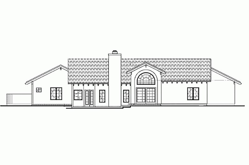Mediterranean Exterior - Rear Elevation Plan #72-131 - Houseplans.com