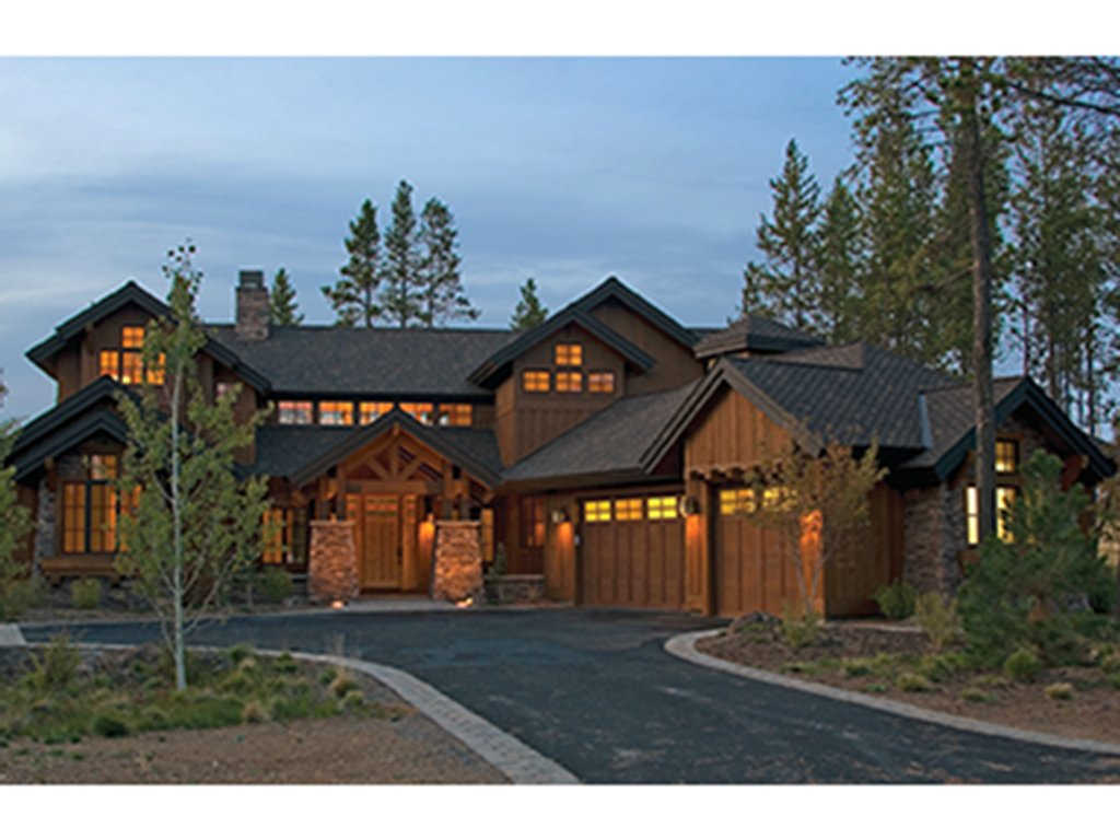 Craftsman style house plan 4 beds 4 5 baths 3738 sq ft for House plans lodge style