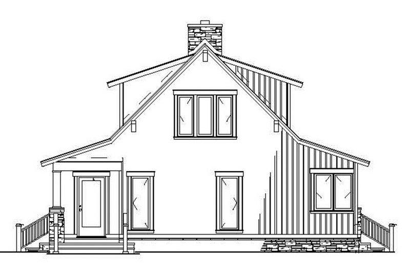 Cabin Exterior - Rear Elevation Plan #17-3303 - Houseplans.com