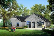 Adobe / Southwestern Style House Plan - 3 Beds 2 Baths 1582 Sq/Ft Plan #1-1009 Exterior - Front Elevation