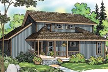 House Plan Design - Contemporary Exterior - Front Elevation Plan #124-388