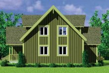 Exterior - Rear Elevation Plan #72-478