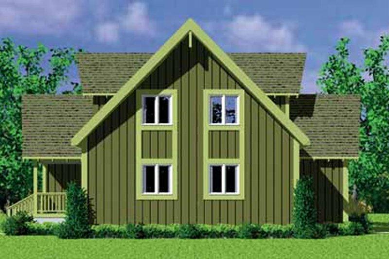 Exterior - Rear Elevation Plan #72-478 - Houseplans.com