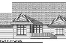 House Plan Design - Traditional Exterior - Rear Elevation Plan #70-858