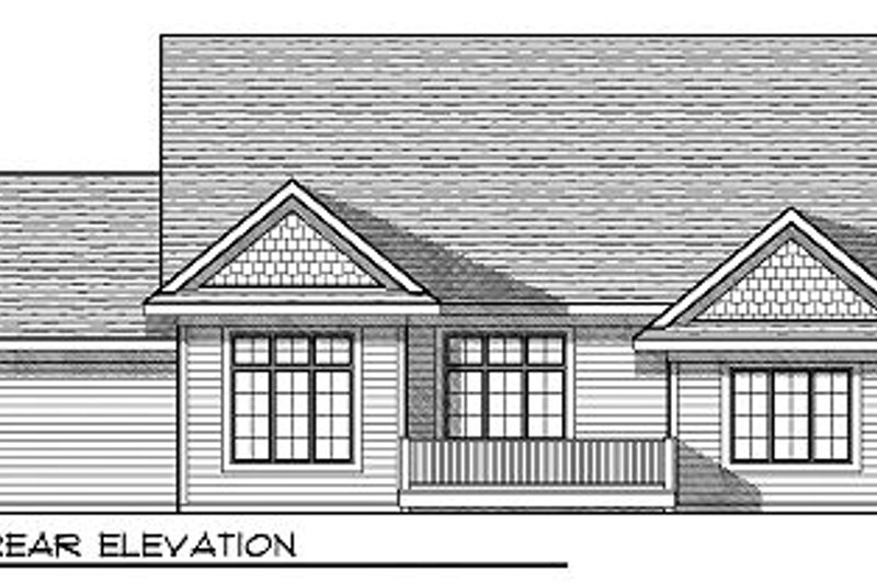 Traditional Exterior - Rear Elevation Plan #70-858 - Houseplans.com