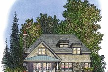 House Plan Design - Country Exterior - Rear Elevation Plan #1016-70