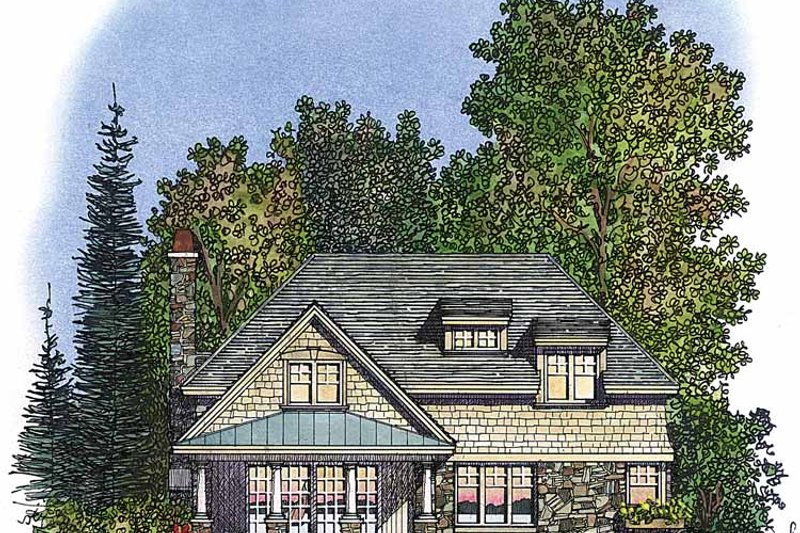 Country Exterior - Rear Elevation Plan #1016-70 - Houseplans.com