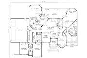 European Style House Plan - 3 Beds 4.5 Baths 4532 Sq/Ft Plan #17-240 Floor Plan - Main Floor Plan