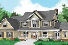 Home Plan - Country Exterior - Front Elevation Plan #11-268