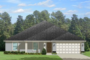 Home Plan Design - Traditional Exterior - Front Elevation Plan #1058-121