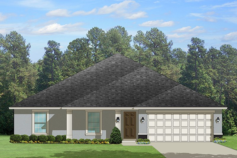 Dream House Plan - Traditional Exterior - Front Elevation Plan #1058-121