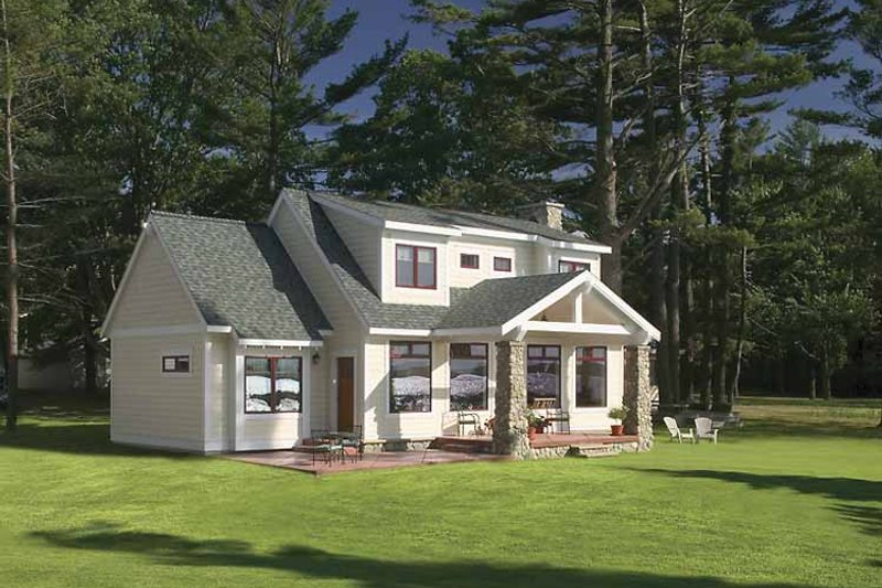 Craftsman Exterior - Front Elevation Plan #928-90