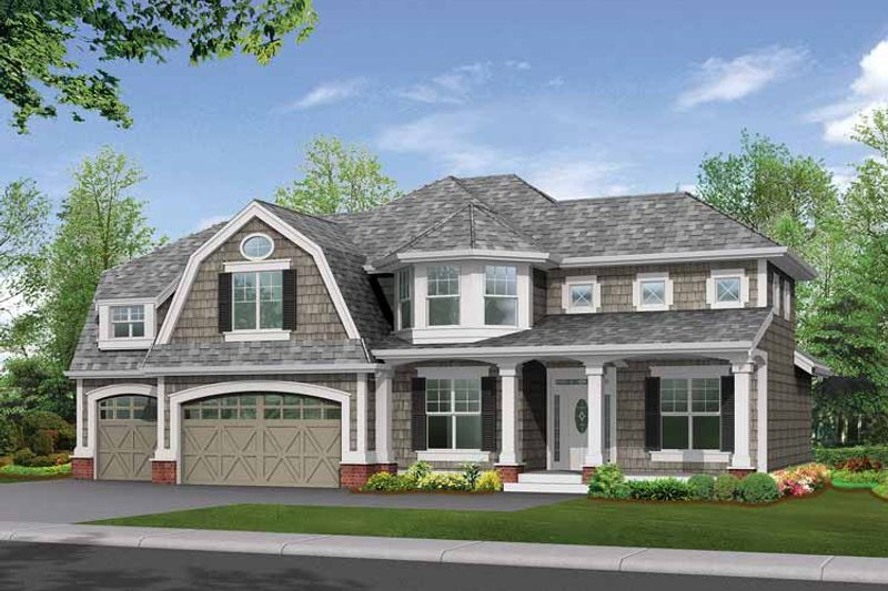 Colonial Exterior - Front Elevation Plan #132-269