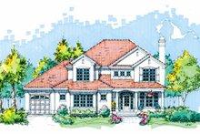 Architectural House Design - Mediterranean Exterior - Front Elevation Plan #929-593