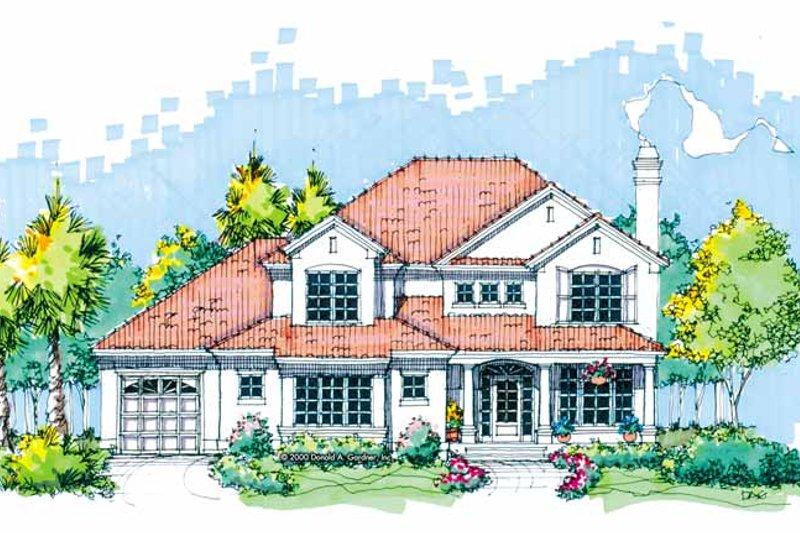 House Plan Design - Mediterranean Exterior - Front Elevation Plan #929-593