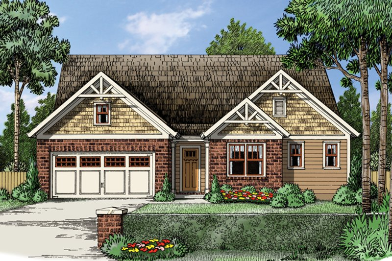 Traditional Exterior - Front Elevation Plan #927-960 - Houseplans.com