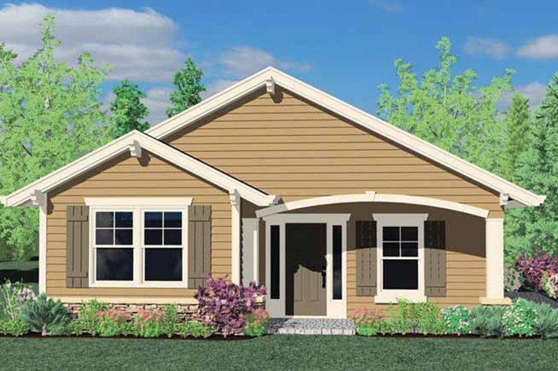 Traditional Exterior - Rear Elevation Plan #509-118 - Houseplans.com