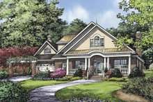 Country Exterior - Front Elevation Plan #929-809