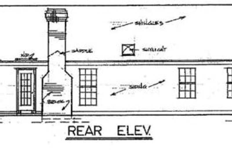 Country Exterior - Rear Elevation Plan #34-102 - Houseplans.com