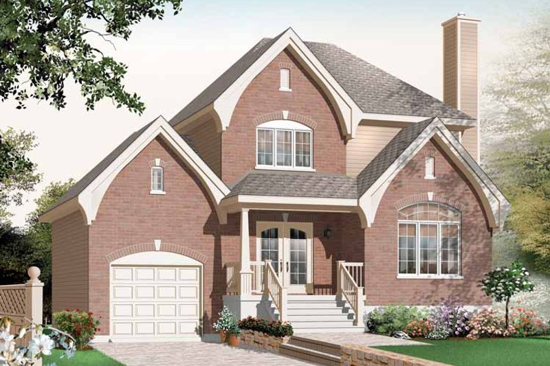 Country Exterior - Front Elevation Plan #23-2444