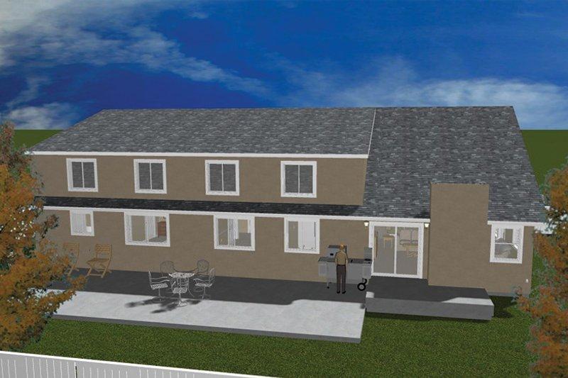 Traditional Exterior - Rear Elevation Plan #1060-20 - Houseplans.com