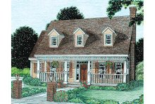 Home Plan - Country Exterior - Front Elevation Plan #20-302