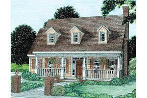 Country Exterior - Front Elevation Plan #20-302