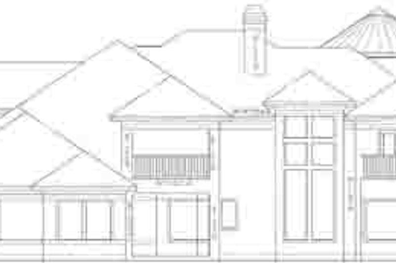 Mediterranean Exterior - Rear Elevation Plan #61-190 - Houseplans.com